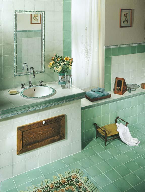 Bagno verde acqua design gallery design e arredamento - Bagno verde mela ...